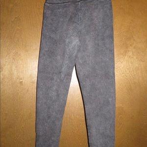 Distressed Wash Yoga Pants